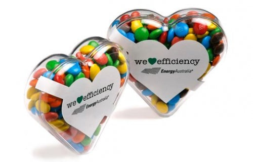 Yum Hearts filled with Lollies - Promotional Products