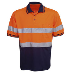 Hi Vis Polo Shirt Short Sleeve - Day/Night Use - Corporate Clothing