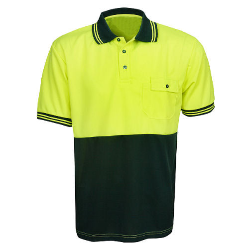 Hi Vis Polo Shirt Short Sleeve - Day Use - Corporate Clothing
