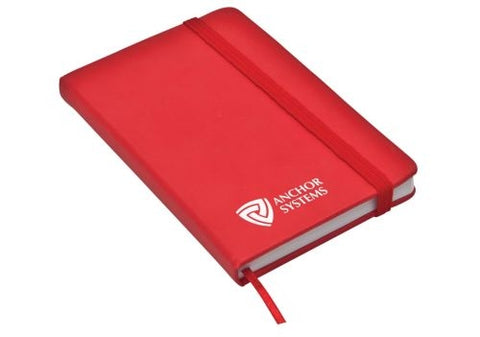 Classic Pocket Size Notepad with Elastic Closure - Promotional Products