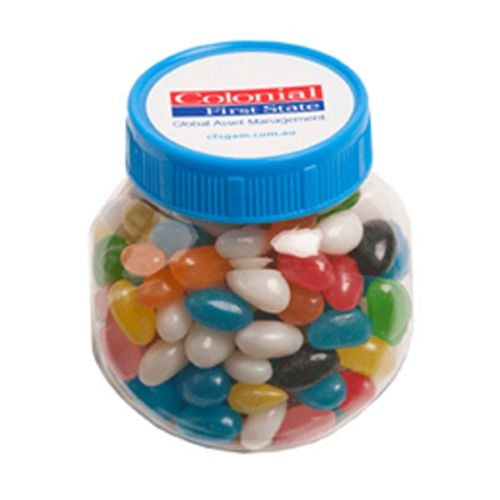 Yum Lolly Jar with Coloured Lids. - Promotional Products