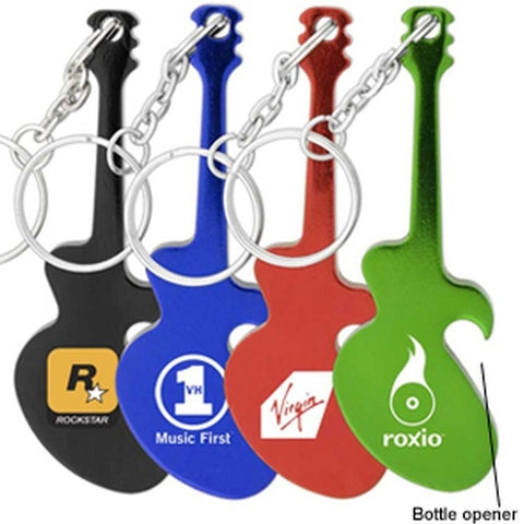 Econo Guitar Bottle Opener Keyring - Promotional Products