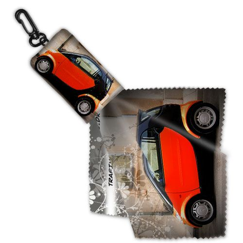 Keyring Cleaning Cloth in Pouch - Promotional Products