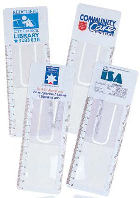 Bleep Clear Bookmark Magnifier Ruler - Promotional Products