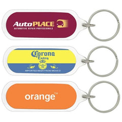 Econo Oval Acrylic Keyring - Promotional Products