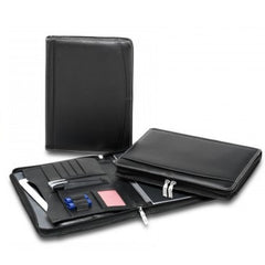 R&M Premium Leather Compendium With Tablet Pocket - Promotional Products