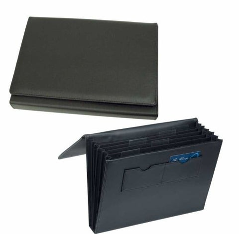 Avalon A4 Leather Look Expandable File - Promotional Products