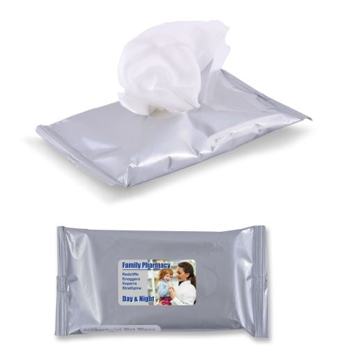 Bleep Budget Anti Bacterial Wet Wipes in Pouch - Promotional Products