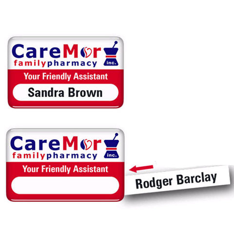Name Badge with Changeable Name Insert - Promotional Products