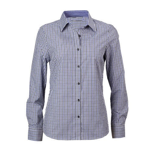 Reflections Two Tone Gingham Check Long Sleeve Shirt - Corporate Clothing