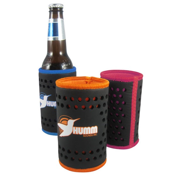 Neo Textured Stubby Cooler With Base - Promotional Products