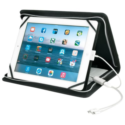 Oxford Tablet Holder with Inbuilt Powerbank Charger - Promotional Products