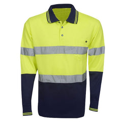 Hi Vis Polo Shirt Long Sleeve - Day/Night Use - Corporate Clothing