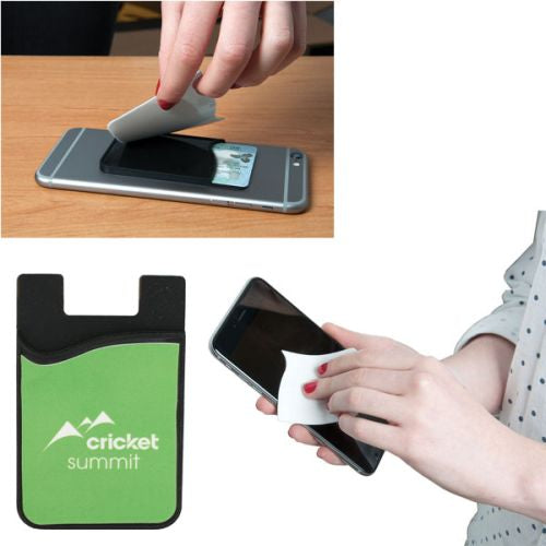 Phone Wallet with Screen Cleaner - Promotional Products