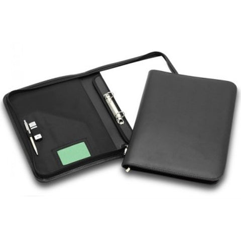 R&M 2 Ring Binder Leather Look Compendium - Promotional Products
