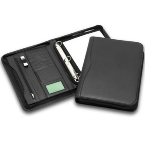 R&M 3 Ring Binder Leather Look Compendium - Promotional Products
