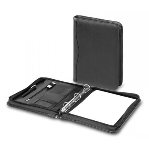 R&M 3 Ring Binder Leather Compendium - Promotional Products