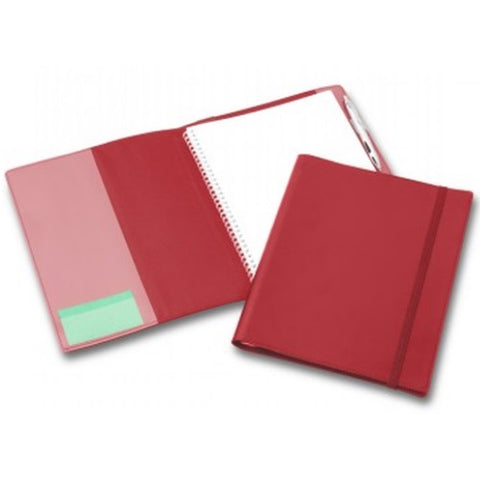 R&M A4 Leather Compendium with Elastic Closure - Promotional Products