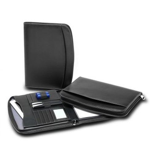 R&M Leather Look Compendium with Tablet Pocket - Promotional Products
