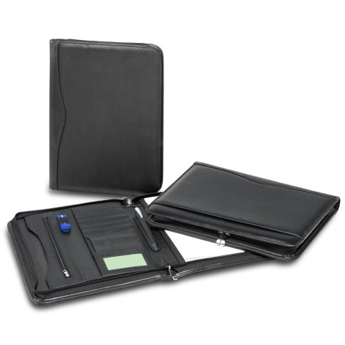 R&M Leather Look Zippered Compendium - Promotional Products
