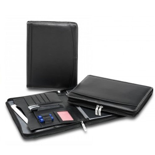R&M Premium Leather Compendium With Tablet Pocket