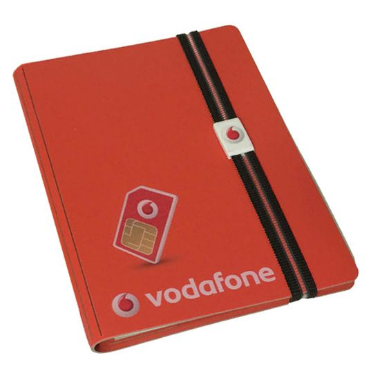 Custom Leather Covered Notepad with Elastic Strap - Promotional Products