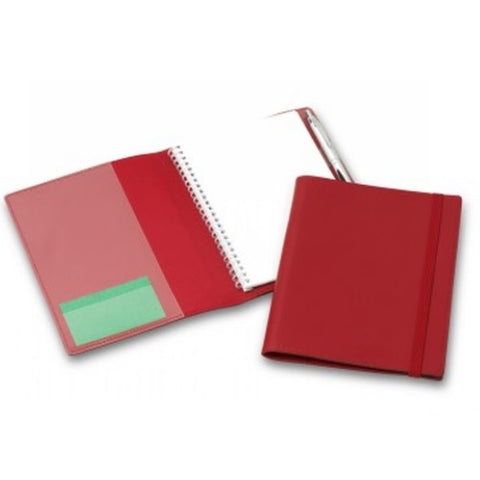 R&M A5 Leather Compendium with Elastic Closure - Promotional Products