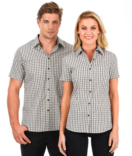 Reflections Two Tone Gingham Check Short Sleeve Shirt - Corporate Clothing