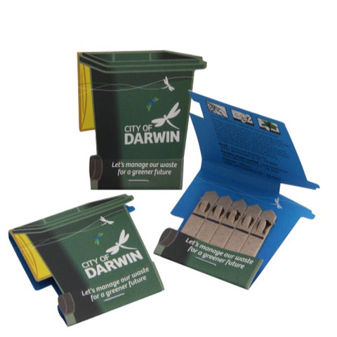 Seed 5 Stick Wheelie Bin Shape Pack - Promotional Products