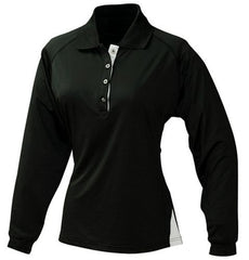 Outline Stretch Long Sleeve Sports Polo Shirt - Corporate Clothing