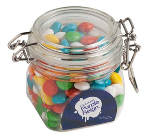 Yum Acrylic Clip Lock Container with Lollies - Promotional Products
