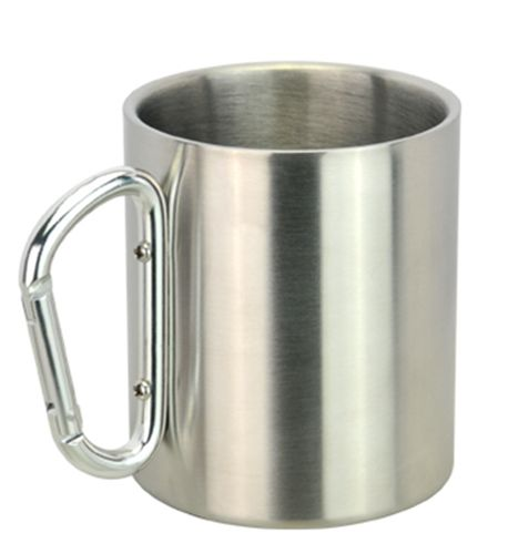 Stainless Steel Carabineer Mug - Promotional Products