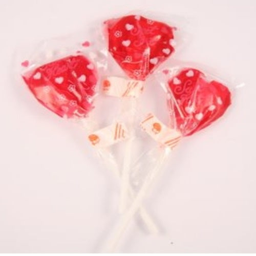 Scrummy Heart Lollipop - Promotional Products