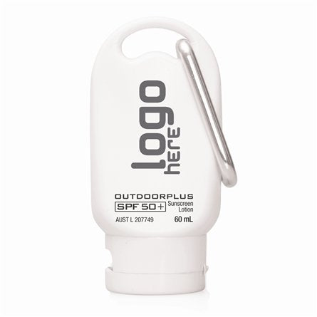 Cambridge 60ml 50+ Sunscreen with Carabineer. - Promotional Products