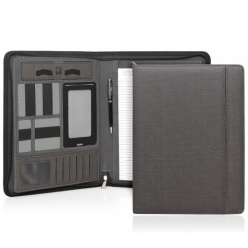Cambridge Modern A4 Zippered Compendium - Charcoal - Promotional Products