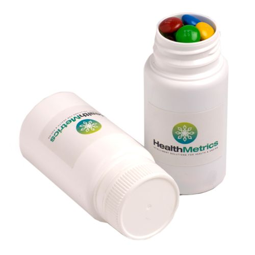 Yum Pill Container filled with Lollies - Promotional Products