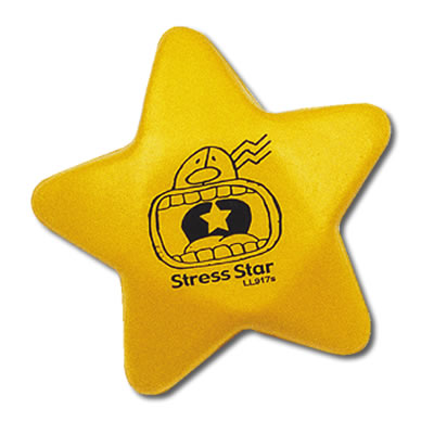 Bleep Stress Yellow Star - Promotional Products