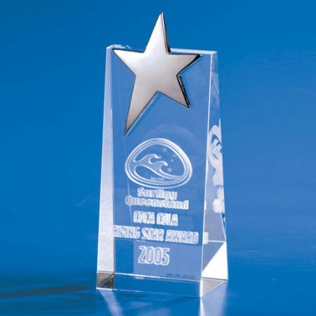 Kapture Star Wedge Trophy - Promotional Products