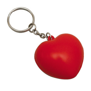 Promo Stress Heart Keyring - Promotional Products