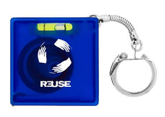Econo Tape Measure with Level Keychain - Promotional Products
