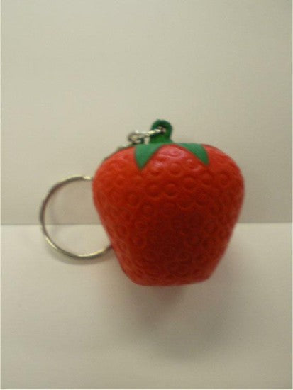 Promo Stress Strawberry Keyring - Promotional Products