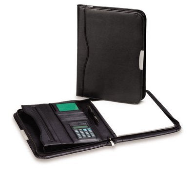 R&M Leather Look Compendium with Calculator - Promotional Products