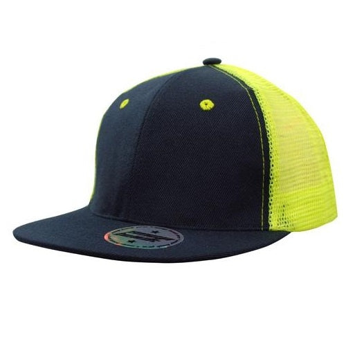 Generate Safety Flat Peak Cap with Mesh Back - Promotional Products