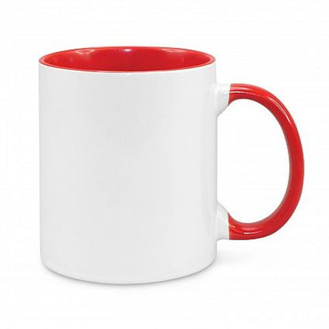 Eden Full Colour Coffee Cup with Coloured Inner - Promotional Products