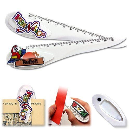 Custom Clip 3 in 1 Ruler - Promotional Products