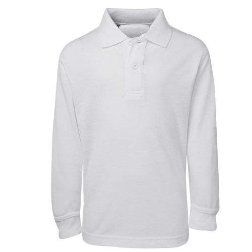 Malcom Plain Cotton Blend Long Sleeve Polo Shirt. - Corporate Clothing