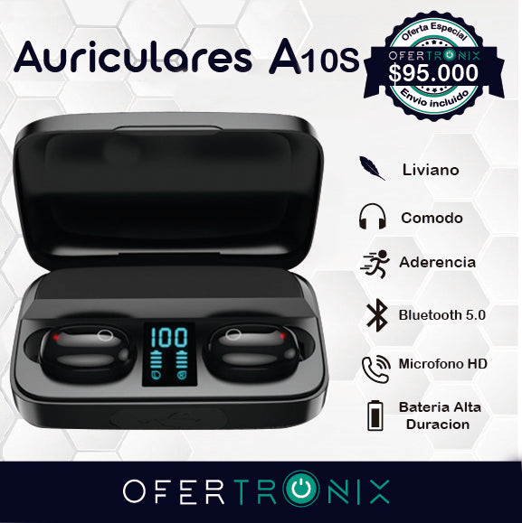 Auriculares Inalambricos  A10S Stereo Sound 5.0