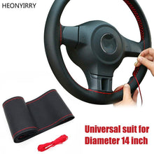 Load image into Gallery viewer, 14in DIY Binding Leather Steering Wheel Cover