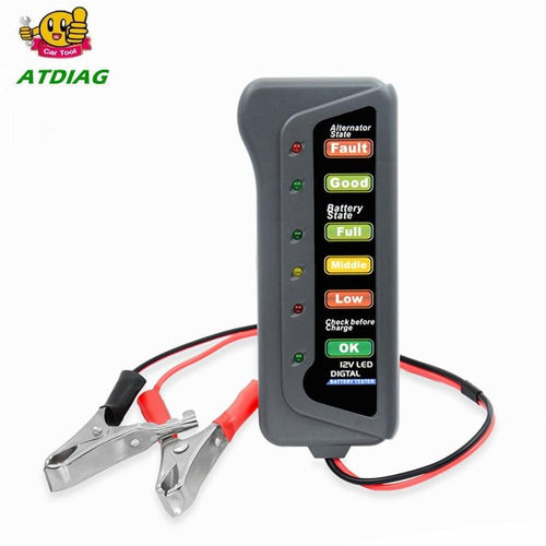 12V Digital Battery Tester - Auto Diagnostics Tool