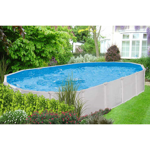 Swimming Pools - Interline Stahlwandbecken Aruba Oval 4.9 X 3.6 M, 53130008